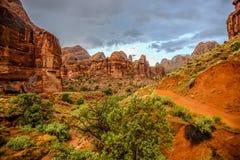 Traînée tous terrains de montagne de Pritchett dans Moab, Utah photographie stock libre de droits