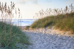 Traînée vers la mer en Caroline du Nord Photos libres de droits