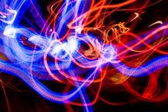 Traînées abstraites de lumière Photo stock