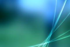 Traînées blanches sur le bleu Photos libres de droits