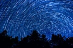 Traînées d'étoile au-dessus de la Caroline du Nord Photo stock
