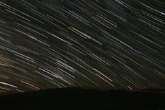 Traînées d'étoile dans le désert Image libre de droits
