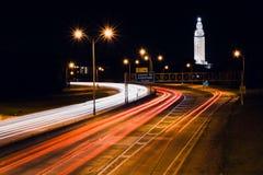 Traînées d'un état à un autre de lumière de Baton Rouge Photographie stock libre de droits
