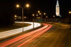 Traînées d'un état à un autre de lumière à Baton Rouge Louisiane Photo stock