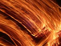 Traînées de flamme Image libre de droits