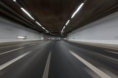 Traînées de lumière dans le tunnel Image libre de droits