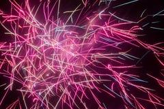 Traînées de lumière de feux d'artifice Photos stock