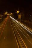 Traînées de lumière de voiture Photographie stock
