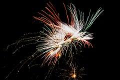Traînées de lumière de feu d'artifice photos libres de droits