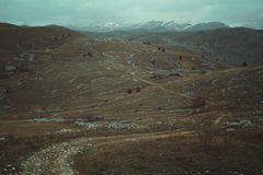 Traînées de montagne désolées photos libres de droits