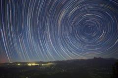 Traînées du sud d'étoile de montagne de Springbrook Images libres de droits