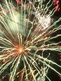 Traînées intergalactiques abstraites de lumière de feux d'artifice Photographie stock libre de droits