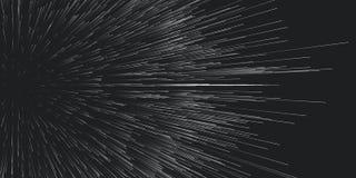 Traînées rondes de vecteur de fond d'explosion Hors du mouvement central de débris Particules brouillées dans des rayons ou des l illustration libre de droits