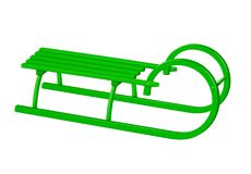 Traîneau canadien en bois - vert Image stock