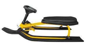 Traîneau de neige d'isolement - jaune Image libre de droits