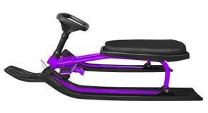 Traîneau de neige d'isolement - violette Photographie stock libre de droits