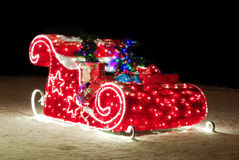 Traîneau de Noël Image libre de droits