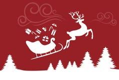 Traîneau de Noël Photo stock