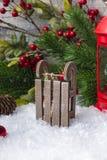Traîneau de Santa Claus Jouets du ` s de nouvelle année Photographie stock