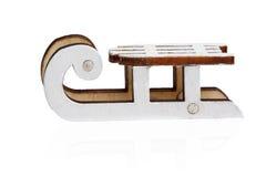 Traîneau en bois de jouet Image libre de droits