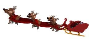Traîneau et renne de Santa Image libre de droits