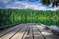 Traîner au lac Photos libres de droits