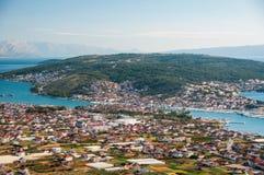 Traù - una città storica e un porto Immagine Stock Libera da Diritti