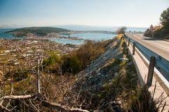Traù - una città storica e un porto Immagini Stock Libere da Diritti