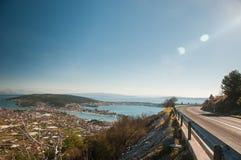 Traù - una città storica e un porto Fotografia Stock Libera da Diritti