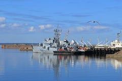 Trałowowie Rosyjska marynarka wojenna dokują w Kronstadt Zdjęcia Royalty Free