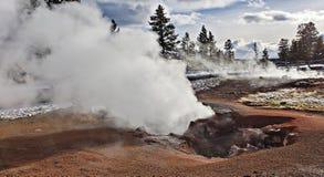 Tra?n?e de pot de peinture de fontaine, parc national de Yellowstone image stock