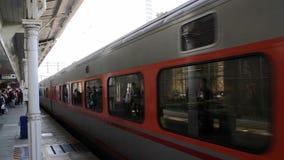 TRA Tze Chiang Express Train at Tcihung Station. HD stock video