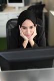 Trabajador árabe asiático Foto de archivo libre de regalías