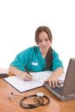 Trabajador cómodo del cuidado médico Foto de archivo libre de regalías