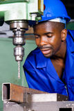 Trabajador de collar azul Fotografía de archivo