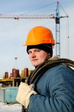 Trabajador de construcción Imágenes de archivo libres de regalías