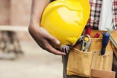 Trabajador de construcción Fotografía de archivo libre de regalías