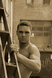 Trabajador de construcción Foto de archivo