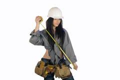 Trabajador de construcción adolescente hermoso (2) Fotos de archivo libres de regalías