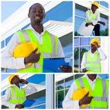 Trabajador de construcción africano Fotos de archivo
