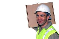 Trabajador de construcción cómodo imagen de archivo