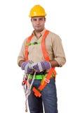 Trabajador de construcción cómodo Fotografía de archivo libre de regalías