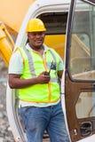 Trabajador de construcción de carreteras Fotos de archivo libres de regalías
