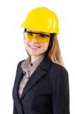 Trabajador de construcción de la mujer fotos de archivo libres de regalías
