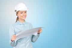 Trabajador de construcción de la mujer imágenes de archivo libres de regalías