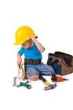 Trabajador de construcción de Little Boy Fotos de archivo
