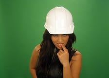 Trabajador de construcción de sexo femenino asiático coqueto (2) Fotografía de archivo