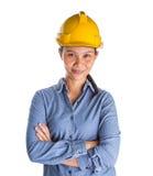 Trabajador de construcción de sexo femenino II imagen de archivo