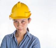 Trabajador de construcción de sexo femenino III fotografía de archivo libre de regalías