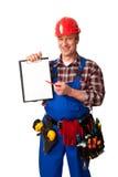 Trabajador de construcción de sexo masculino Fotografía de archivo libre de regalías